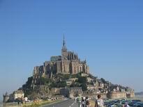 Le Mont St.Michel e strada-diga