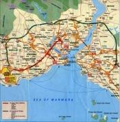piantina AVIS per uscira da Istanbul