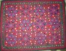 drappo in seta doppio telo ricamato (nomadi dell'Uzbekistan)